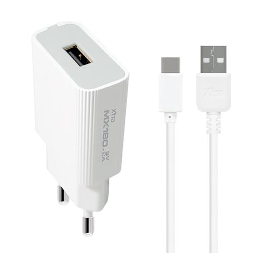 엑스트라 MX180 1포트 USB 가정용 충전기 - C타입 5V2A